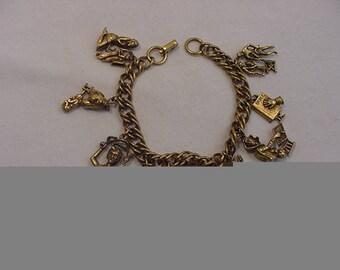 Vintage Religious Theme Charm Bracelet  18 - 224