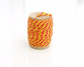Reel of Red/Yellow Baker's Twine