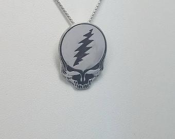 Handmade Sterling Silver Grateful Dead Stealie Pendant