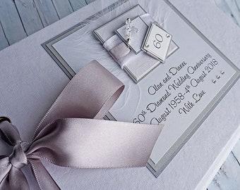 Diamond Wedding Anniversary Guest Book, Diamond Wedding Gift