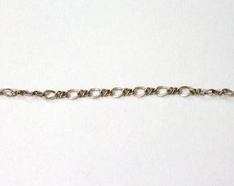 3mm x 2.5mm Antique Silver Figaro Chain #CC90
