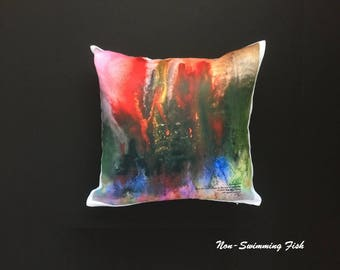 """Abstract Art Pillow Entitled """"Proven Love"""""""