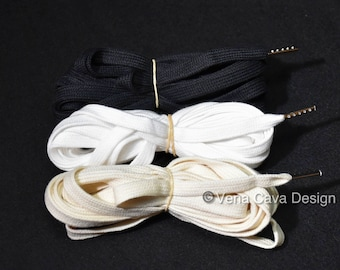 Cotton Corset Laces with Metal Tips (Aglets) 5m long