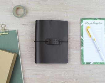 "Traveler's Notebook ""dark brown""-A6"