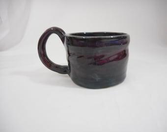 Purple Stoneware Ceramic Mug, Handmade Pottery, Hand Painted, Hand Thrown, Drinkware, Coffee, Tea, Gift, Drinks (C0029)