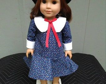 """18"""" Vintage Style Doll Dress 1960's-1970's Fits American Girl-Julie, Melody+"""