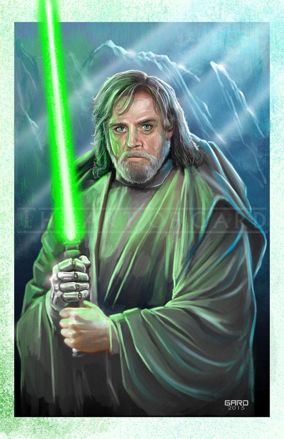 Luke Skywalker (from Episode VII) Artist's Print 11X17