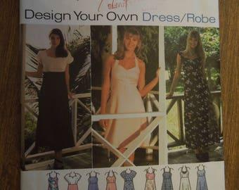 Simplicity 9600, sizes 10-14, misses, petite, dress, UNCUT sewing pattern, craft supplies