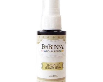 Bo Bunny Bronze Glimmer Spray - Acid Free Ink Spray - Waterbased Ink Spray - Bronze Ink Spray - Vibrant Ink Spray - NonToxic Spray - 4-025