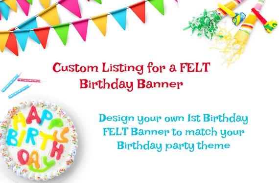 custom birthday banner birthday banner party decorations