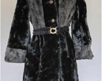 Vintage 1970's MOD Faux Fur by Adorable Coat Corporation M
