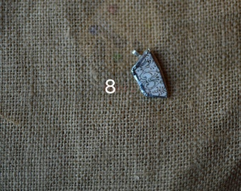 White & Gold Broken China Necklace Set #2