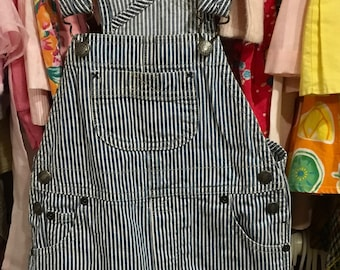 Striped Shorty Overalls 12/18 Months
