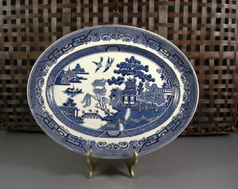 Johnson Bros. Blue Willow Oval Platter