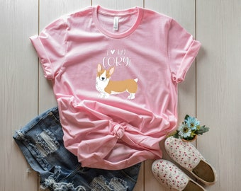 LIMITED EDITION I Love My Corgi T-Shirt for Dog Moms
