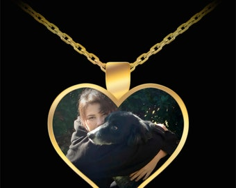 Personalized Pet Photo Charm Necklace for Dog Lovers and Pet Lovers Your Favorite Pet Picture Pendant Pet Keepsake Jewelry