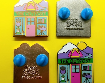 PinStreet Shop #28 The Outpost Outdoor Adventure Shop Hard Enamel Pin