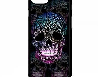Sugar skull day of the dead gothic print skeleton pattern illustration graphic cover for iphone 4 4s 5 5s 5c 6 6s 7 plus SE phone case