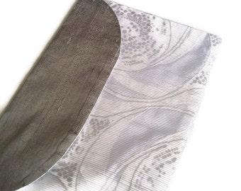 Lingerie Bag White & Silver Silk Travel Bag