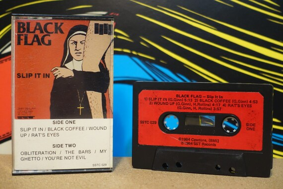 Slip It In by Black Flag Vintage Cassette Tape