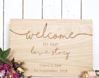 Wooden Wedding Welcome Sign - Wedding Signs - Welcome Sign - Rustic Wedding - Wooden Wedding - Wedding Decoration - Table decoration