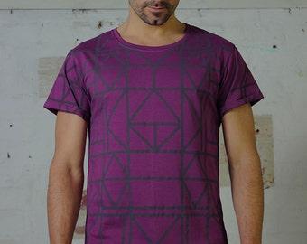 Men's Geo T - Men's T-shirt, Geometric Print, fitted T, T-shirt.