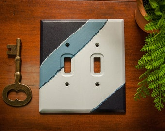 Dauntless - Acrylic hand painted neutral double light switch plate cover