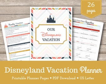 Disneyland Vacation Planner / California / Travel Planner / Disneyland / Planning Printables / Vacation Organizer / Instant Download