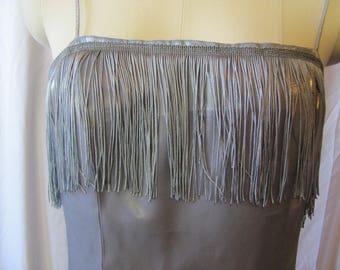 Flapper Costume (medium) flapper dress, sequin, costume, halloween, upcycle, OOAK, 1920's, gatsby dress, party dress, fringe dress