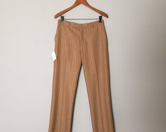 CAFE AU LAIT wool pants | 1970s striped wool cigarette pants | skinny wool pants