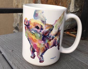 Large Flying Pig Mug 15oz