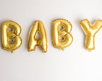 "16"" Gold BABY balloons / baby shower balloons / baby balloons / BABY"
