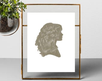 "Hermione ""When In Doubt"" Printable Wall Art - digital download file poster"