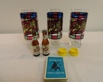 Lot of Vintage Schlitz Beer Items