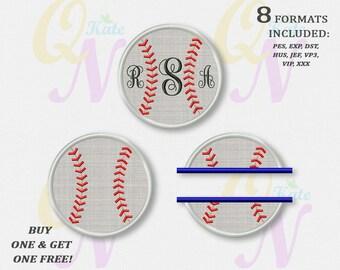 BOGO FREE! Set, Baseball Applique Machine Embroidery Designs, Baseball Split Applique Machine Embroidery Design,Instant download, #070