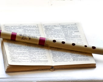 Bamboo Recorder Whistle Flute in G