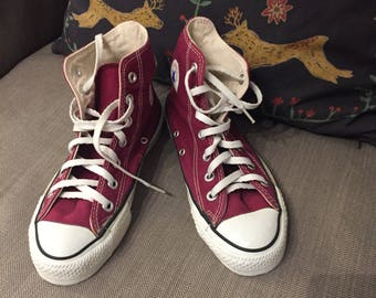 Converse vintage made in usa chuck taylor size 4 burgundy