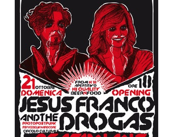 Jesus Franco & the Drogas Gig poster #1