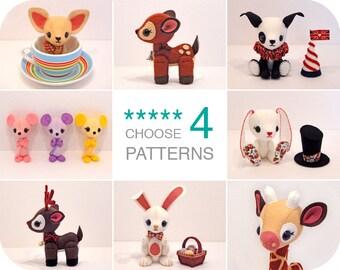 Choose 4 Patchlins Patterns - Bundle