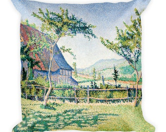 Comblat-le-Château, the Meadow by Paul Signac, 18-Inch Square Throw Pillow