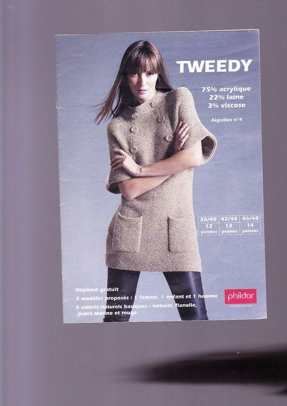 Phildar Knitting Tweedy Knit Sheet From Pearlcolaine On Etsy Studio