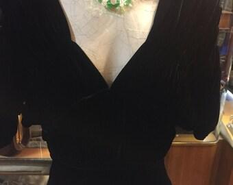 Black Silk Velvet: a 1930s Jean Harlow style dress