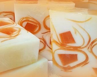 Refreshing Cinnamon & Orange  Glycerine Goats Milk Soap