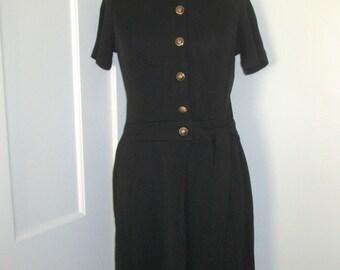 Vintage black shirt dress - small/medium