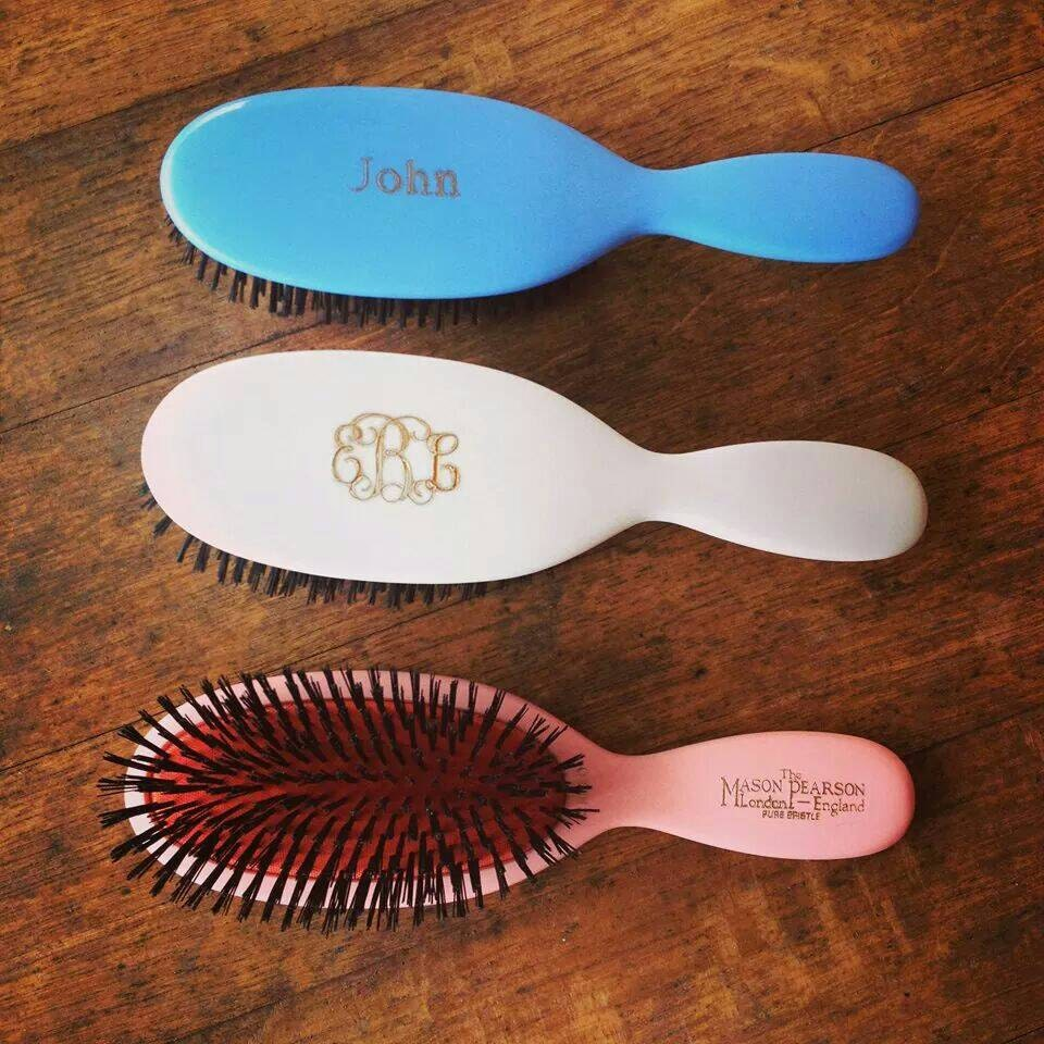 Engraved Mason Pearson Child Hair Brush