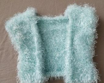 Hand Knit Spring Baby Vest: Ships Immediately!
