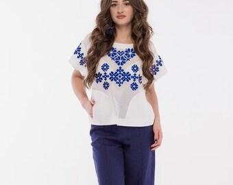 Cotton blouse-White cotton top for womens-Cotton summer top