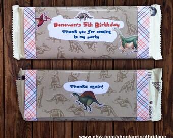 Dinosaur Candy Bar Wrapper, Printable Dino Candy Wrapper, Dinosaur Chocolate Wrapper, Dino Chocolate Wrapper, Dino Printable, Dinosaur Party