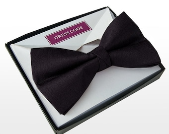 Men's Luxury Satin Black Bow Tie Pre Tied With Gift Boxed