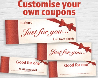 Printable  Coupons 'Just for you'  (editable PDF) Instant download